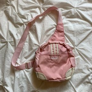 Vintage pink adidas bag